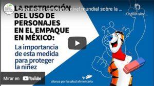 Portada del video Experiencias exitosas a nivel mundial sobre la restricción del uso de personajes en los empaques