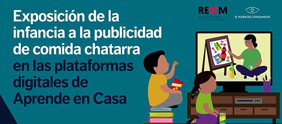 Banner de la conferencia de prensa La publicidad de comida chatarra en las plataformas de Aprende en casa atenta contra derechos de niñas y niños