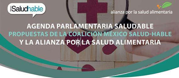 Ilustración encabezado del documento de propuesta de la Agenda Parlamentaria Saludable